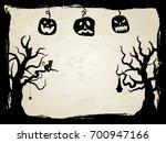 halloween creepy vector frame | Shutterstock .eps vector #700947166