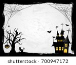 Halloween Creepy Vector Frame