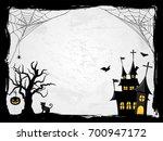 halloween creepy vector frame | Shutterstock .eps vector #700947172