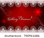 christmas red background with... | Shutterstock .eps vector #700961686
