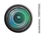 camera lens isolated on white...   Shutterstock .eps vector #700970362
