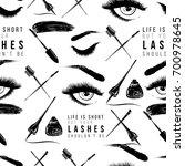 professional makeup artist... | Shutterstock .eps vector #700978645