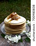 homemade honey cake   Shutterstock . vector #700980838