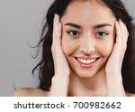 beautiful woman skincare ... | Shutterstock . vector #700982662