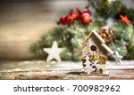 winter christmas background | Shutterstock . vector #700982962
