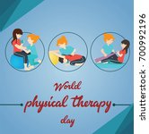 world physical therapy day  8... | Shutterstock .eps vector #700992196