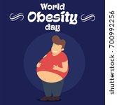 world obesity day  11 october.... | Shutterstock .eps vector #700992256