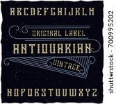 original label typeface named ... | Shutterstock .eps vector #700995202