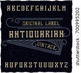 original label typeface named ...   Shutterstock .eps vector #700995202