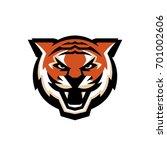 tiger head illustration for... | Shutterstock .eps vector #701002606