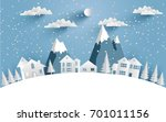 views of the house in winter.... | Shutterstock .eps vector #701011156