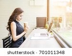 beautiful businesswoman... | Shutterstock . vector #701011348