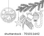 christmas ornaments for adult... | Shutterstock .eps vector #701011642