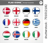 flag icons vector   europe... | Shutterstock .eps vector #701012182