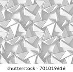 white abstract hexagonal... | Shutterstock . vector #701019616