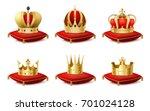 heraldic royal crowns on... | Shutterstock .eps vector #701024128
