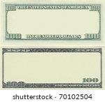 clear 100 dollar banknote... | Shutterstock . vector #70102504