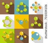 different molecule icons set.... | Shutterstock .eps vector #701034106