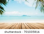 perspective wood and blurred... | Shutterstock . vector #701035816