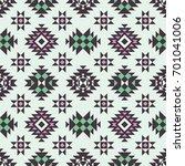 vector seamless ethnic pattern. ... | Shutterstock .eps vector #701041006