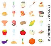 coffee maker icons set. cartoon ... | Shutterstock .eps vector #701043736