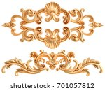 gold ornament on a white... | Shutterstock . vector #701057812