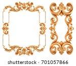 gold frame on a white...   Shutterstock . vector #701057866