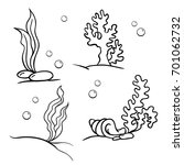set of vector illustrations of... | Shutterstock .eps vector #701062732