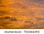 beautiful clouds at sunset ... | Shutterstock . vector #701066392