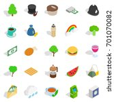 eastern hemisphere icons set....   Shutterstock .eps vector #701070082