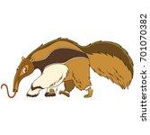 cartoon anteater animal ...