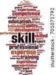 skill word cloud concept.... | Shutterstock .eps vector #701071792
