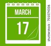 calendar with the date of march ... | Shutterstock .eps vector #701074336