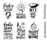 vector set of hand lettering...   Shutterstock .eps vector #701076265