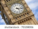 London Big Ben Over Blue Sky A...