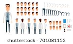 doctor character creation set.... | Shutterstock . vector #701081152