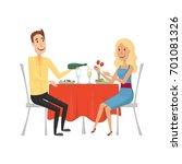 people in the restaurant for... | Shutterstock . vector #701081326