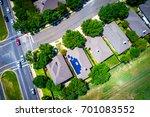 sunny summer green landscape... | Shutterstock . vector #701083552
