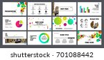 multicolored round elements on... | Shutterstock .eps vector #701088442