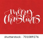 merry christmas. vector text... | Shutterstock .eps vector #701089276