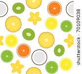 seamless with fruits | Shutterstock .eps vector #70109038