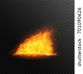 fire flame with fiery sparks ... | Shutterstock .eps vector #701090626