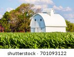 american farmland with blue sky ... | Shutterstock . vector #701093122