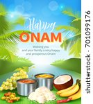 happy onam background with... | Shutterstock .eps vector #701099176