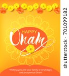 happy onam background with...   Shutterstock .eps vector #701099182