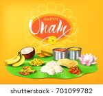 happy onam background with... | Shutterstock .eps vector #701099782