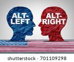 alt right or altleft concept as ... | Shutterstock . vector #701109298