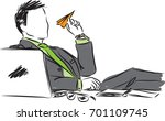 businessman with paper plane... | Shutterstock .eps vector #701109745