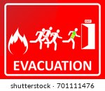 emergency evacuation sign.... | Shutterstock .eps vector #701111476