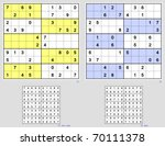 sudoku with the 10x10 grid.... | Shutterstock .eps vector #70111378